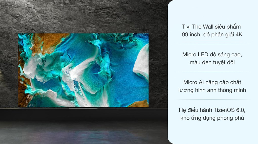 Smart Tivi The Wall Micro LED Samsung 4K 99 inch MNA99MS1A