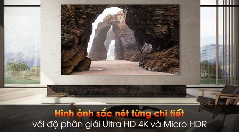 Smart Tivi The Wall Micro LED Samsung 4K 99 inch MNA110MS1A - Ultra HD 4K và Micro HDR