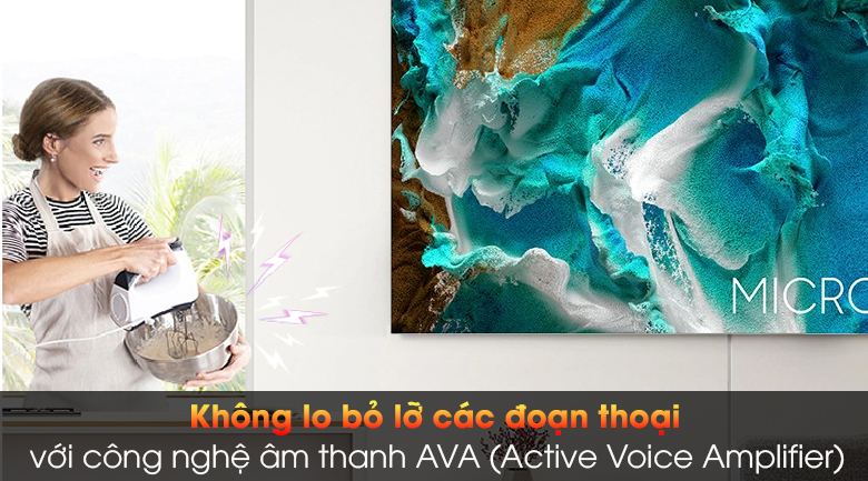 Smart Tivi The Wall Micro LED Samsung 4K 99 inch MNA110MS1A - Công nghệ âm thanh AVA