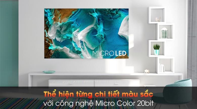 Smart Tivi The Wall Micro LED Samsung 4K 99 inch MNA110MS1A - Công nghệ màu sắc Micro Color 20bit
