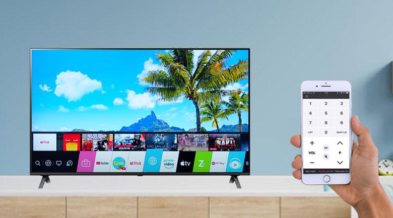 Smart Tivi LG 4K 43 inch 43UP7550PTC - Hỗ trợ điều khiển tivi bằng điện thoại linh hoạt qua ứng dụng LG TV Plus