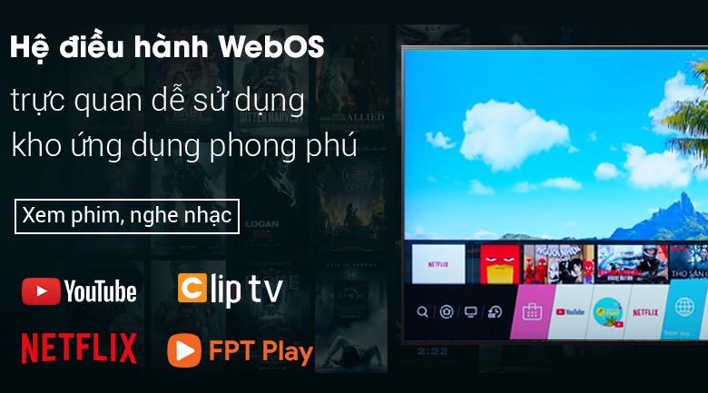 Smart Tivi LG 4K 43 inch 43UP7550PTC - Giao diện thân thiện, dễ dùng của hệ điều hành WebOS 6.0