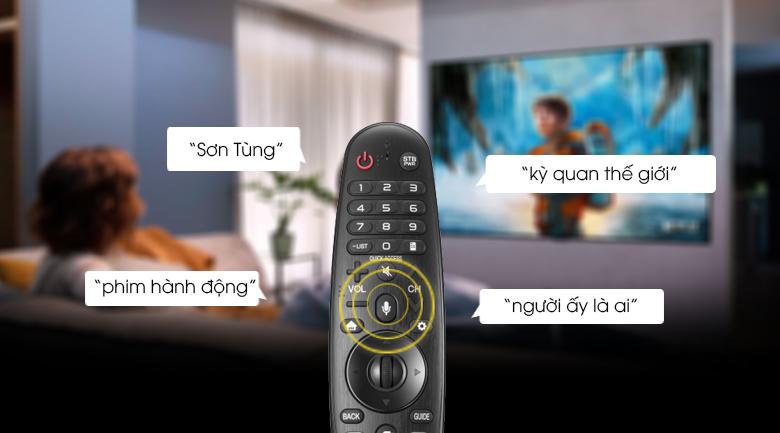 Smart Tivi LG 4K 43 inch 43UP7550PTC - Điều khiển, tìm kiếm bằng giọng nói tiếng Việt cùng Magic Remote và trí tuệ nhân tạo AI ThinQ
