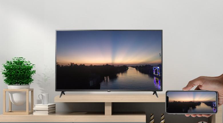 Tính năng AirPlay 2 (iPhone) và Screen Mirroring (Android) - Smart Tivi LG 4K 55 inch 55UP7550PTC