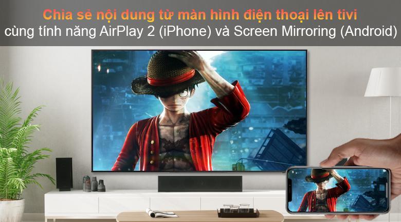 Tivi LED LG 43UP7750PTB - Chia sẻ màn hình dễ dàng từ điện thoại lên TV