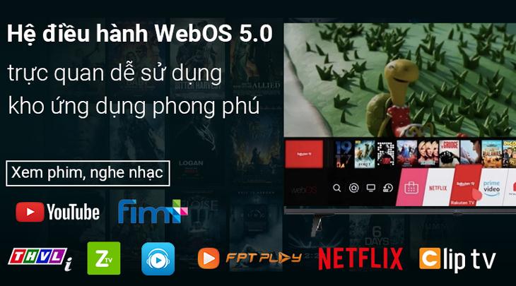 Tivi LED LG 43UP7750PTB - Hệ điều hành WebOS 5.0 mới nhất với giao diện dễ sử dụng