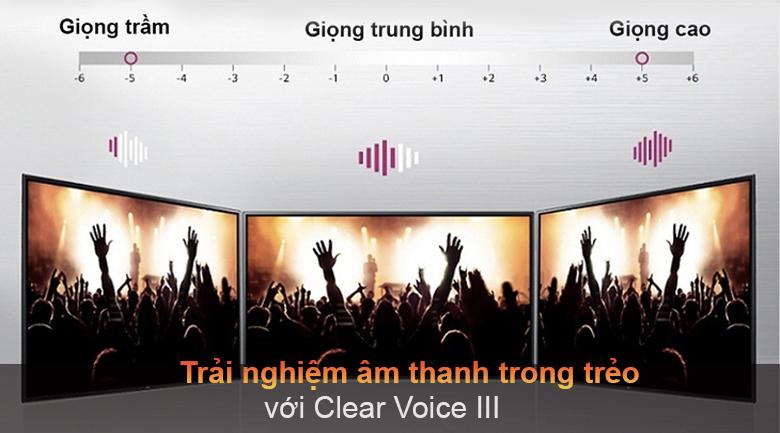 Tivi LED LG 43UP7750PTB - Âm thanh trong trẻo với Clear Voice III