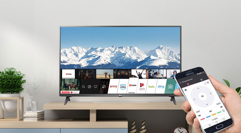 Smart Tivi LG 4K 50 inch 50UP7750PTB - Điều khiển tivi bằng điện thoại dễ dàng với ứng dụng LG TV Plus