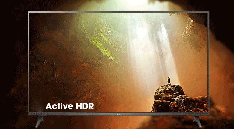 Smart Tivi LG 4K 50 inch 50UP7750PTB - Tái tạo hình có độ chi tiết chính xác cao, màu sắc rực rỡ qua công nghệ Active HDR