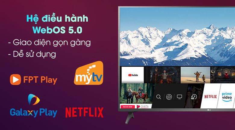 Smart Tivi LG 4K 50 inch 50UP7750PTB - Hệ điều hành WebOS 5.0 với kho ứng dụng phong phú