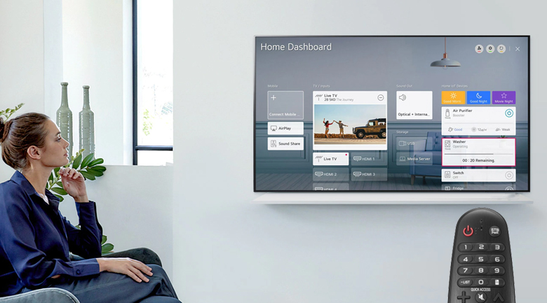 Smart Tivi LG 4K 50 inch 50UP7750PTB - Điều khiển, tìm kiếm nhanh chóng qua giọng nói tiếng Việt với Magic Remote và trí tuệ nhân tạo AI ThinQ