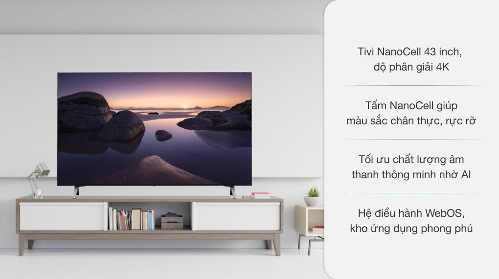 Smart Tivi NanoCell LG 4K 43 inch 43NANO75TPA