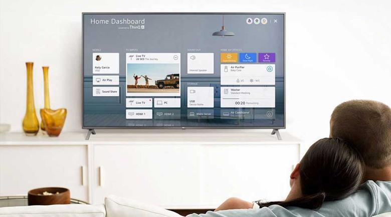 Smart Tivi NanoCell LG 4K 43 inch 43NANO75TPA - AI ThinQ cho phép đặt lệnh đơn giản, quản lý hệ sinh thái trong nhà