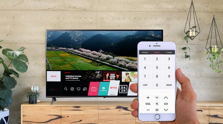 Smart Tivi NanoCell LG 4K 43 inch 43NANO75TPA - Điều khiển tivi LG qua điện thoại linh hoạt cùng ứng dụng LG TV Plus