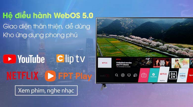 Smart Tivi NanoCell LG 4K 43 inch 43NANO75TPA - Giao diện trực quan, dễ dùng từ hệ điều hành WebOS 5.0