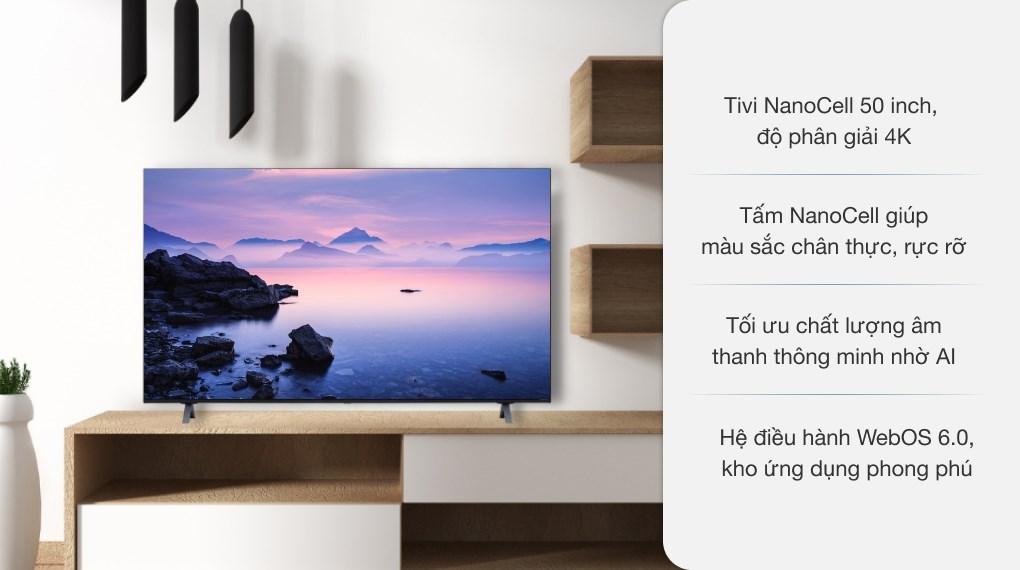 Smart Tivi NanoCell LG 4K 50 inch 50NANO75TPA
