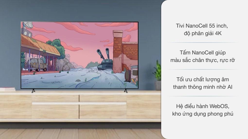 Smart Tivi NanoCell LG 4K 55 inch 55NANO75TPA