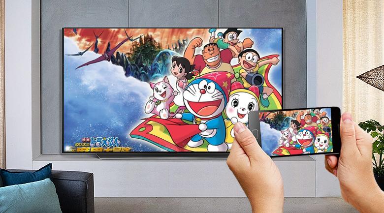 Smart Tivi OLED LG 4K 48 inch 48C1 PTB - Chia sẻ dễ dàng nội dung trên điện thoại lên tivi cùng tính năng AirPlay 2 và Screen Mirroring