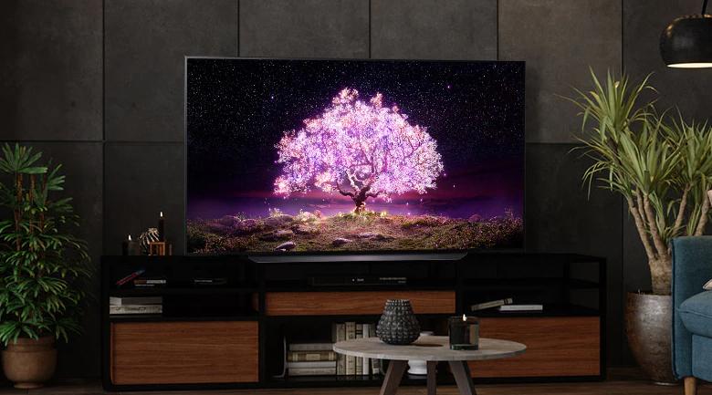 Smart Tivi OLED LG 4K 48 inch 48C1PTB - Đường nét tinh tế, chân đế rộng cho tivi đứng ổn định