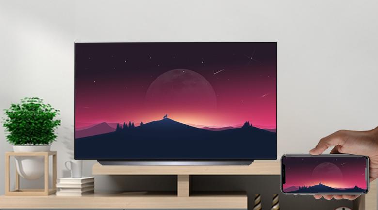 Tính năng Screen Mirroring và AirPlay 2 - Smart Tivi OLED LG 4K 65 inch 65C1PTB