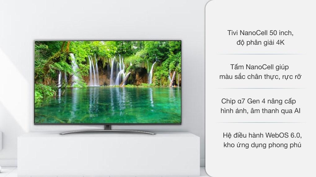 Smart Tivi NanoCell LG 4K 50 inch 50NANO86TPA