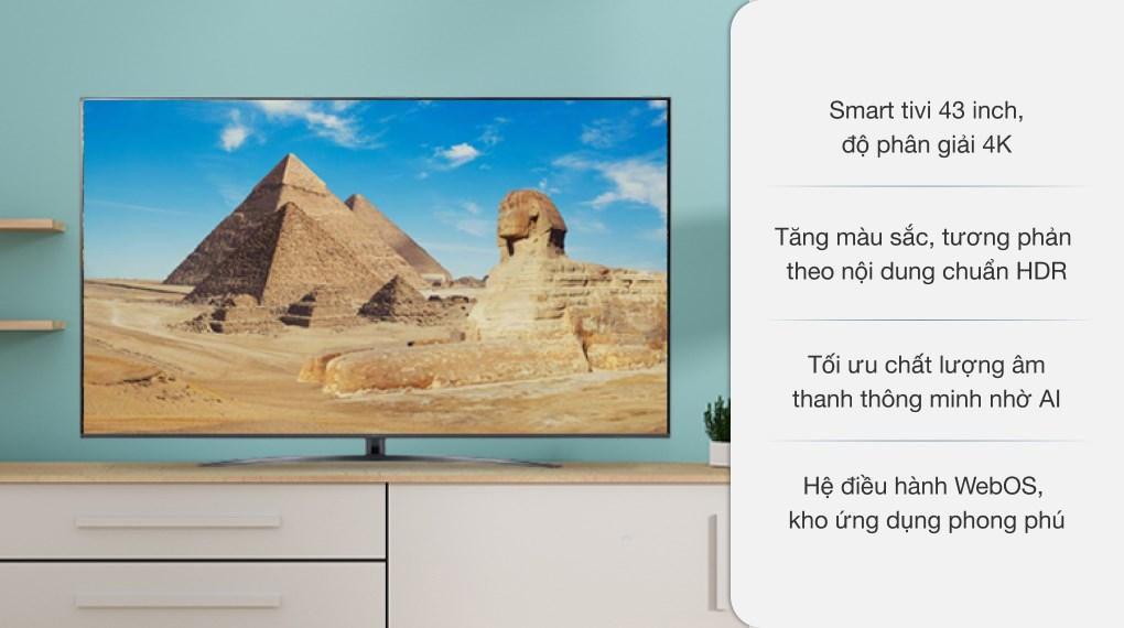 Smart Tivi LG 4K 43 inch 43UP7800PTB