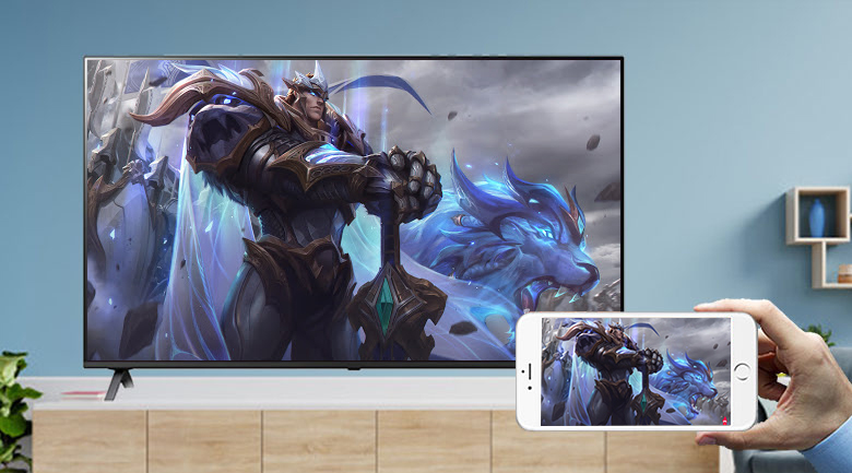 Smart Tivi LG 4K 43 inch 43UP7800PTB - Chiếu màn hình