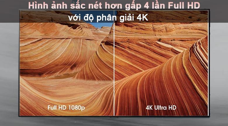 Tivi LED LG 50UP7800PTB - Độ phân giải 4K sắc nét gấp 4 lần so với Full HD