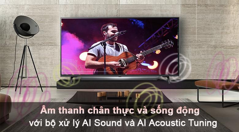 Tivi LED LG 50UP7800PTB - Âm thanh sống động với bộ xử lý AI Sound và AI Acoustic Tuning