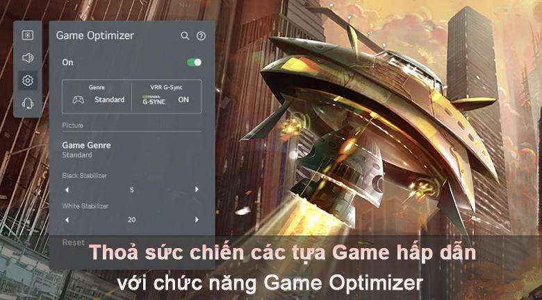 Tivi LED LG 50UP7800PTB -Chơi game mượt mà với tính năng Game Optimizer