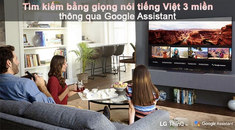 Tivi LED LG 50UP7800PTB - Hỗ trợ tìm kiếm giọng nói tiếng Việt thông qua Google Assistant