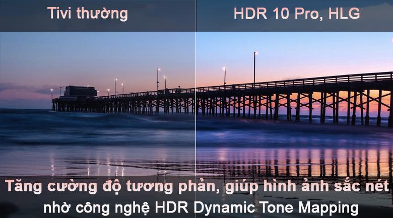 Tivi LED LG 50UP7800PTB - Tăng độ tương phản với công nghệ HDR 10 pro, HLG
