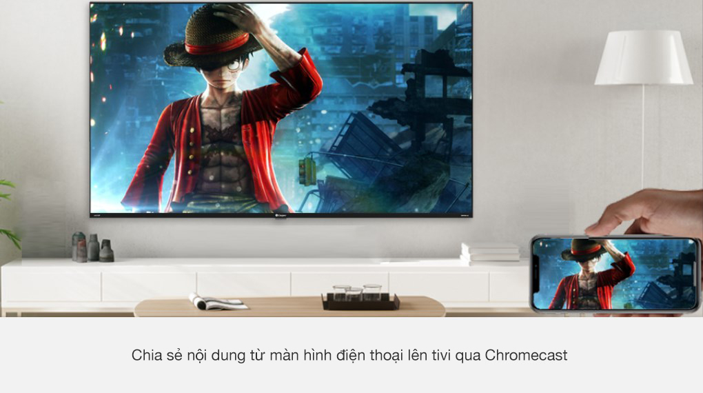 Kết nối chiếu màn hình di động lên tivi Chromecast