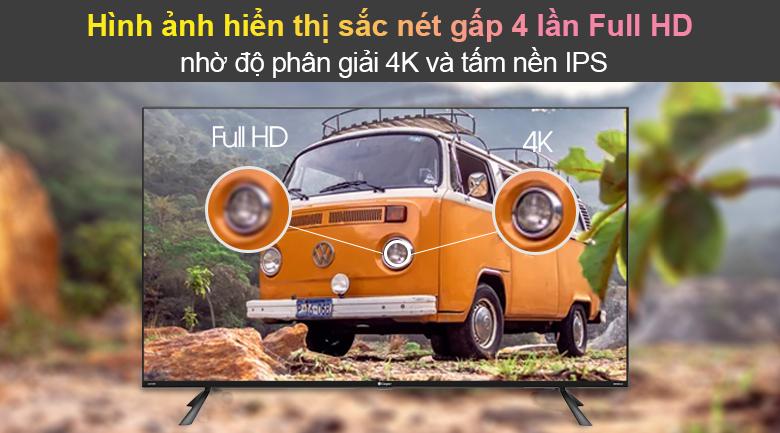 Tivi Led Casper 4K 50 inch 50UG6100 - Độ phân giải 4K