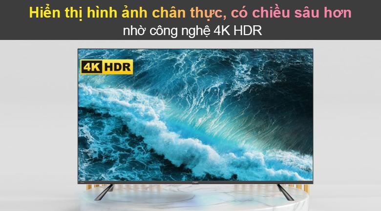 Tivi Led Casper 4K 50 inch 50UG6100 - Công nghệ 4K HDR