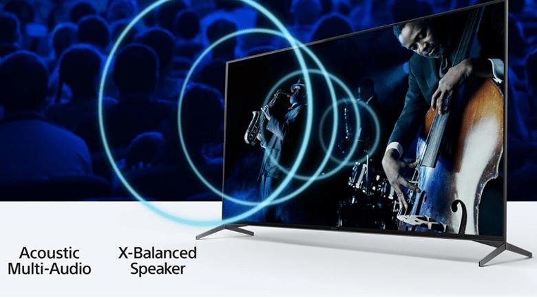 Android Tivi Sony 4K 55 inch XR-55X90J - Âm thanh phát ra từ màn hình, đồng bộ hoàn hảo với hành động nhờ công nghệ Acoustic Multi-Audio