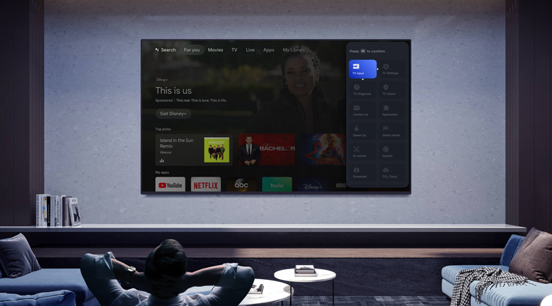 TCL HOME - Android Tivi QLED TCL 4K 55 inch 55C728