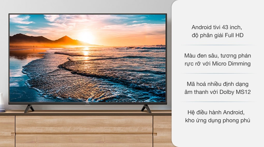 Android Tivi TCL 43 inch L43S5200