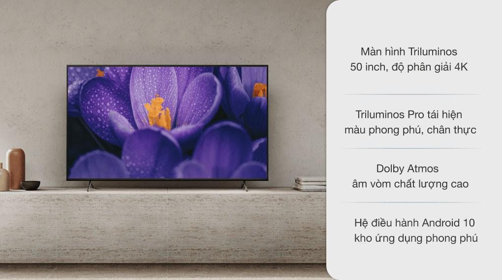 Android Tivi Sony 4K 50 inch KD-50X80J