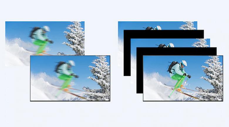 Tivi LED Sony KD-75X80J - Hình ảnh chuyển động sáng và mượt mà nhờ công nghệ Motion flow XR200, Auto Mode