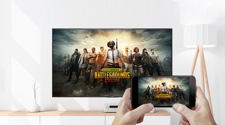 Tivi LED Sony KD-75X80J - Trình chiếu nội dung từ màn hình điện thoại lên màn hình lớn tivi thuận tiện cùng tính năng Chromecast và AirPlay 2