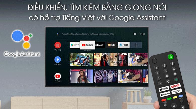 Tivi LED Sony KD-75X80J - Tìm kiếm bằng giọng nói có tiếng Việt giọng 3 miền Bắc - Trung, Nam với Google Assistant và remote thông minh