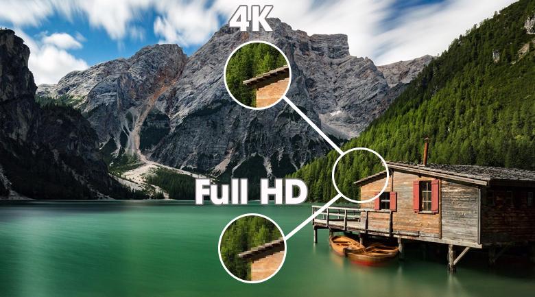 Tivi LED Sony KD-75X80J - Hiển thị hình ảnh sinh động với độ phân giải 4K nét gấp 4 lần Full HD