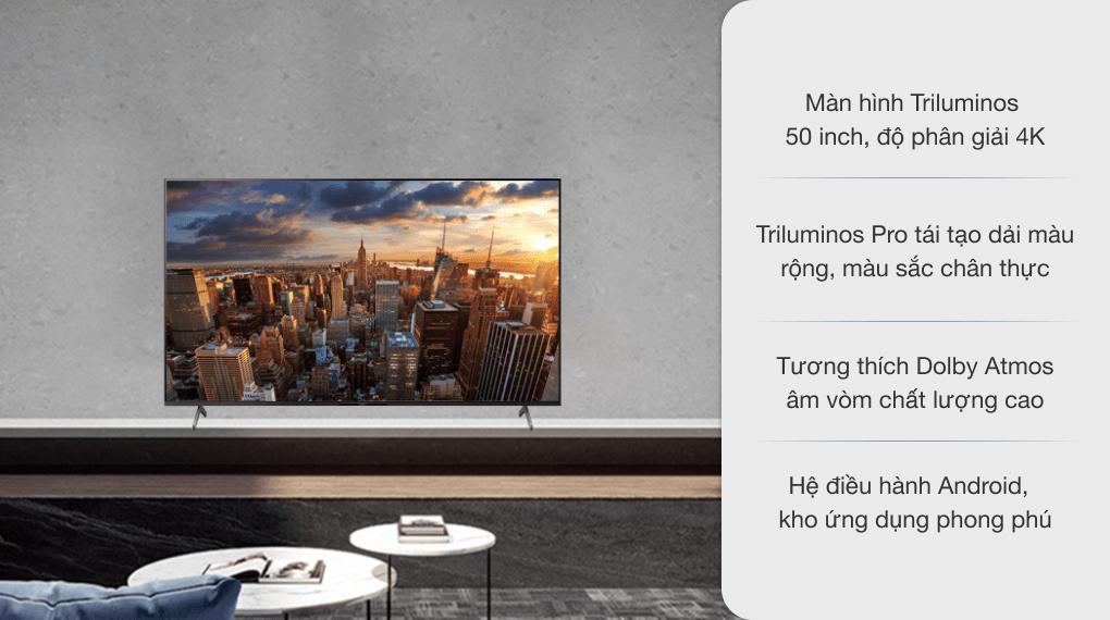Android Tivi Sony 4K 50 inch KD-50X85J