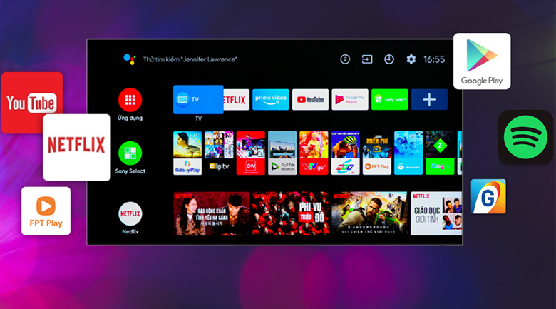 Tivi LED Sony KD-75X86J hệ điều hành