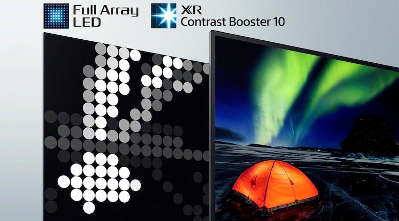 Tivi LED Sony KD-65X95J - Màu đen sâu thẳm, độ sáng mạnh mẽ với công nghệ Full Array LED, XR Contrast Booster x10