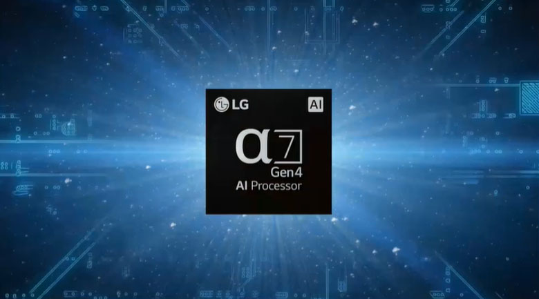 Bộ xử lý α7 Gen 4 Processor 4K - Tivi NanoCell LG 65NANO86TPA