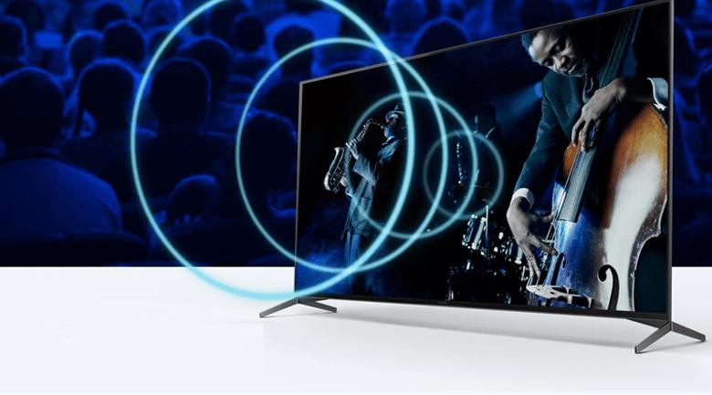 Android Tivi OLED Sony 4K 65 inch XR-65A80J - Hoàn toàn hòa mình vào bộ phim với âm thanh phát ra từ màn hình nhờ công nghệ Acoustics Surface Audio+