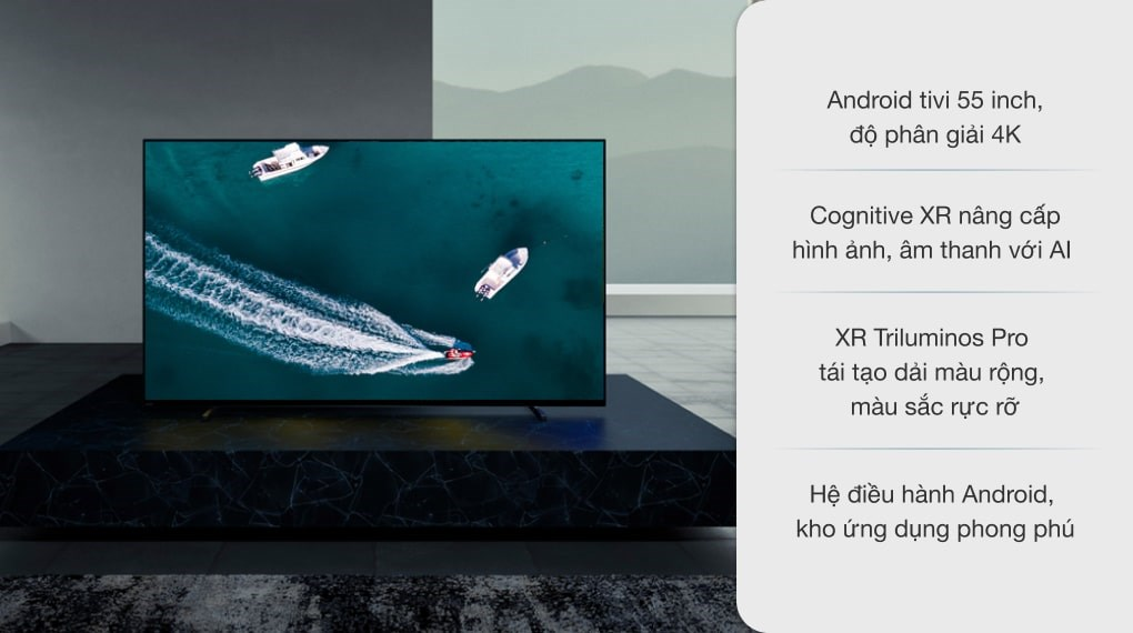 Android Tivi OLED Sony 4K 55 inch XR-55A80J