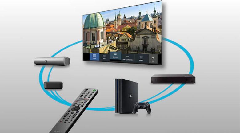 Trợ lý ảo Google Assístant và Remote RMF-TX520P mới  - Android Tivi OLED Sony 4K 77 inch XR-77A80J